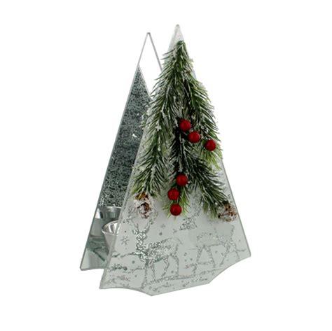 construction paper tree lit with tea light silver sparkle tree tea light holder pine flowers only 12 left