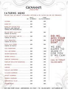 catering menu ideas catering menu catering ideas