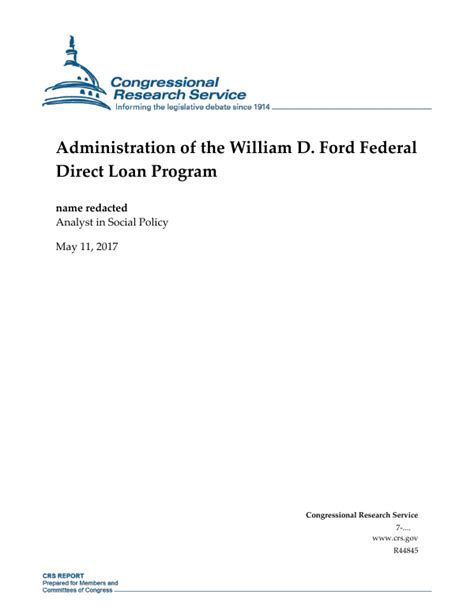 William D Ford Federal Direct Loan Program by Administration Of The William D Ford Federal Direct Loan