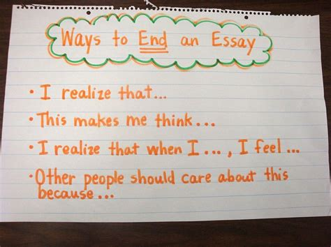 How To End A Persuasive Essay by Ways To End An Essay School Ideas