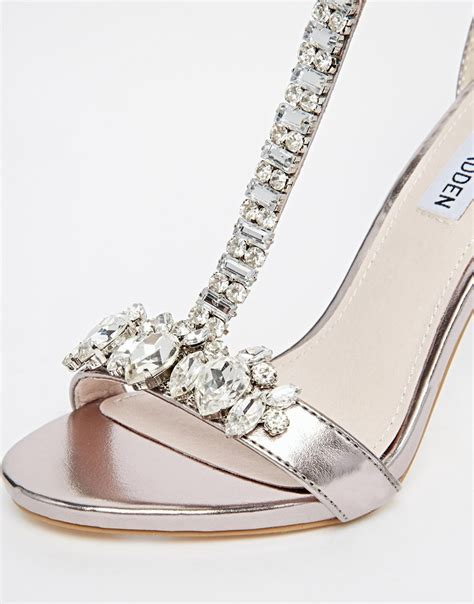 silver t sandals steve madden teve madden silver embellished t bar
