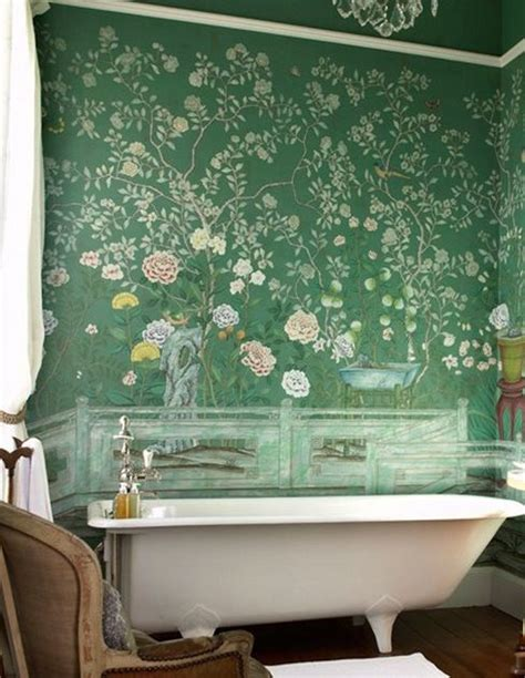 wallpaper jade green chinoiserie style wallpaper in jade green decorating