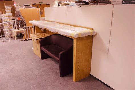 light oak reception desk secondhand shop equipment reception desks and shop