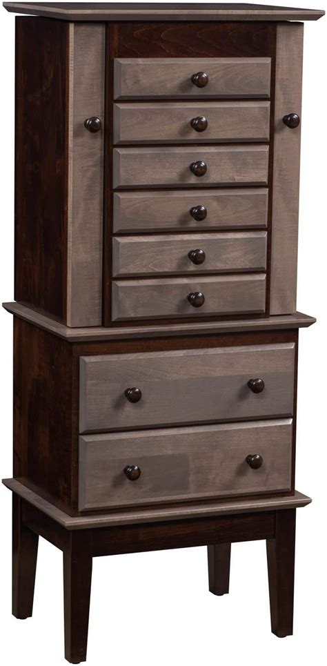 shaker jewelry armoire bedroom armoires amish furniture by brandenberry amish