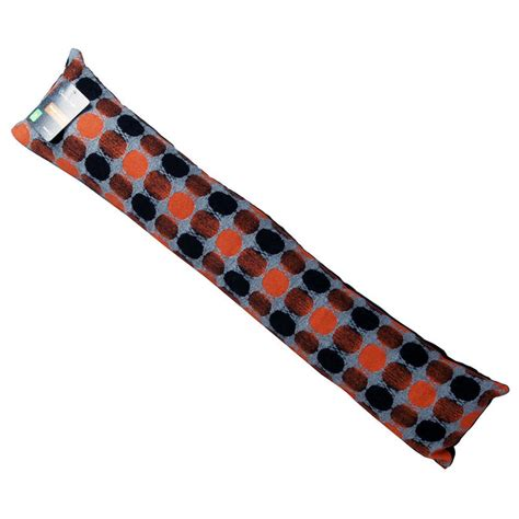Door Draft Excluder Cushion by Home Door Draught Excluder Cushion Orange Black Spot