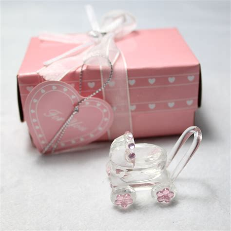 Baby Shower Wholesale Favors by Factory Outlet Hi Q 10pcs Lot Fashion Pink Baby Carriage