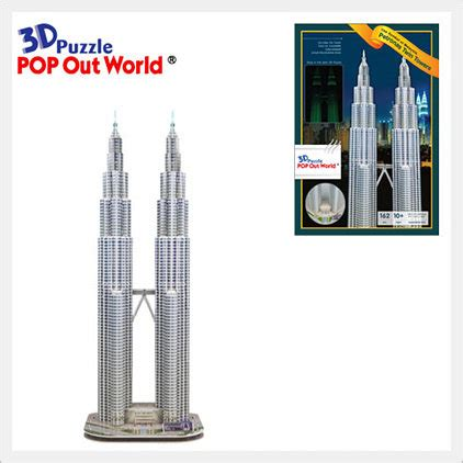 Scholas Pop Out World Taj Mahal Small Puzzle 3d 3d puzzle petronas towers id 6036807 product details view 3d puzzle petronas towers