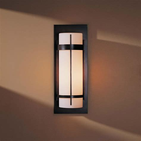 Exterior Wall Sconce Hubbardton Forge 305894 Banded Led Outdoor Lighting Wall Sconce Hub 305894