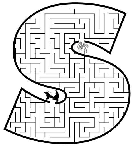 printable maze letter d letter s maze printable letters pinterest