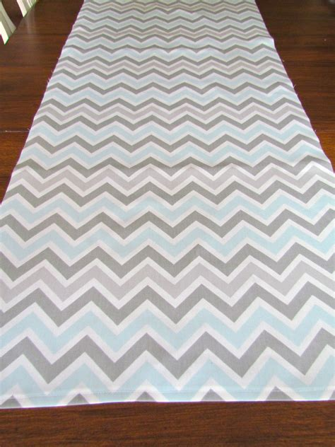 Baby Blue Table Runner by Table Runner Grey Blue Top Wedding Shower Chevron Table