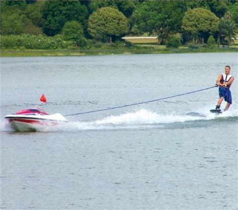 big rc boat jet drive rc tow boat lets you drive and wakeboard at the same time