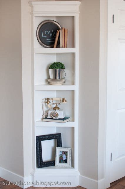Corner Shelf For Dining Room by Start At Home Built In Shelf The Easy Way Tutorial
