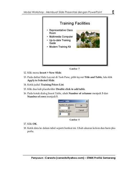 membuat video presentasi dengan powerpoint modul workshop membuat presentasi dengan powerpoint
