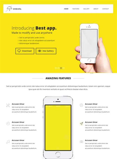 bootstrap templates for mobile app free umbrella responsive website theme bootstrap
