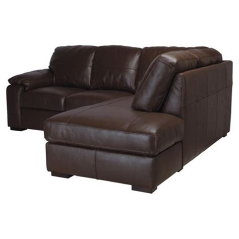 buy ashmore leather corner sofa brown right facing