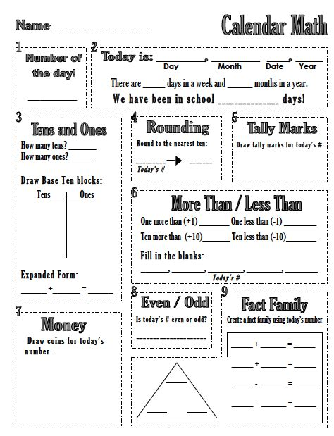 Calendar Math The Spanglish Classroom Calendar Math