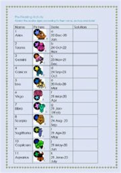 zodiac signs printable worksheets 28 zodiac signs worksheet 20 free esl zodiac
