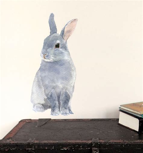 rabbit wall stickers bunny wall decal rabbit fabric wall sticker not by chocovenyl