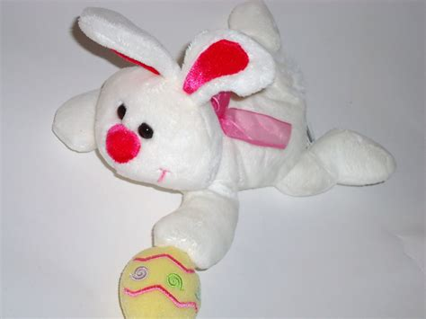 What Does Walmart Look For In A Background Check Walmart Easter Bunny With Egg Plush Stuffed Animal White Pink Yellow Other