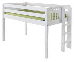 Loft Bed Low Maxtrix Low Loft Bed W Ladder On End Size