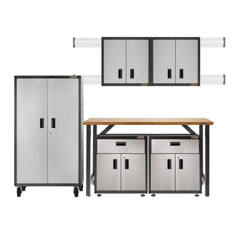 Gladiator Ready To Assemble 66 In H X 103 In W X 20 In Ready To Assemble Garage Cabinets
