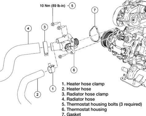 2007 ford fusion heater hose removal 1993 ford truck f250 3 4 ton p u 2wd 7 3l mfi diesel ohv