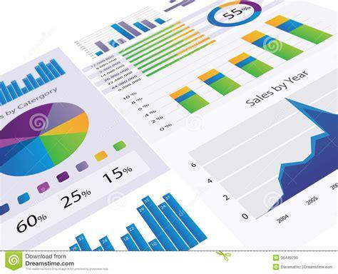 charts and graphs graphs and charts royalty free stock images image 36449799