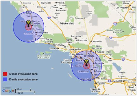 nuclear power plants in california map images