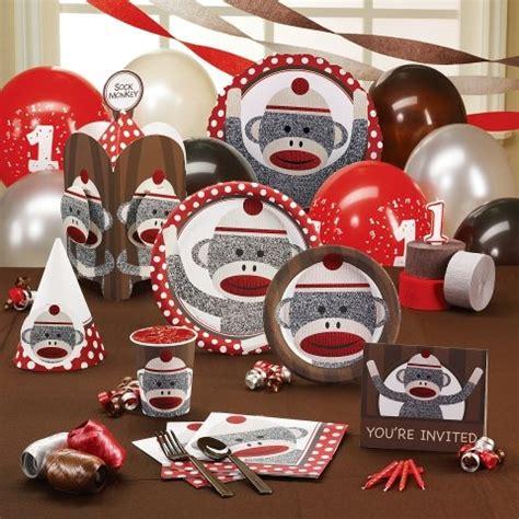 Sock Monkey Decorations by Sock Monkey Supplies Birthday Ideas