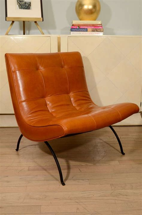 slipper chair with ottoman milo baughman slipper chairs and ottoman at 1stdibs