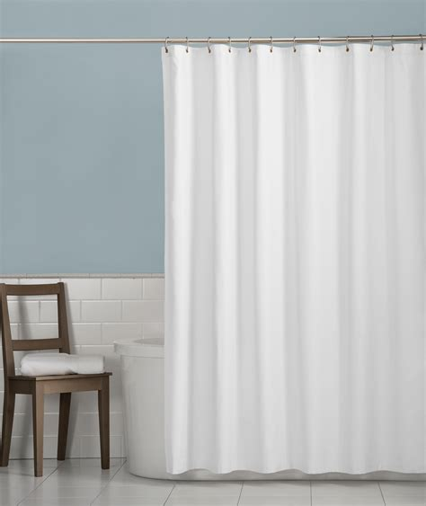 white bathroom curtains amazon com maytex soft microfiber water repellent fabric
