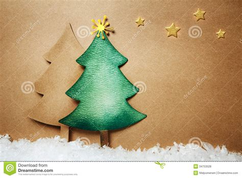 Handmade Paper Tree - paper craft chsitmas trees stock photo image of