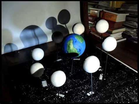 como hacer una maqueta de las 8 fases lunares interactiva fases de la luna y eclipses youtube