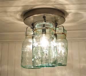 jar ceiling light greenish vintage canning jar ceiling light created by