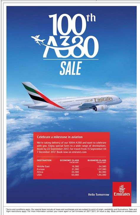 emirates sale emirates 100th a380 sale ad advert gallery