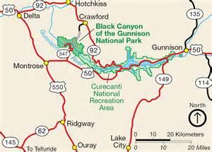 map of gunnison colorado nps black of the gunnison area map photos