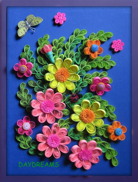 How To Make Flowers With Paper Quilling - daydreams quilled flowers framed work