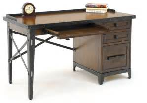 gs furniture industrial age 52 in desk smokey walnut