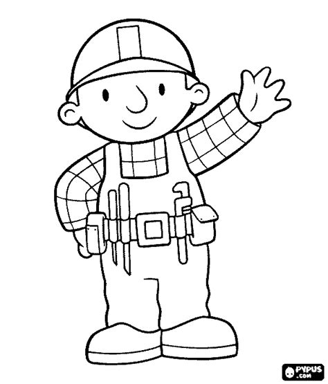 Construction Worker Coloring Page Construction Tools Coloring Pages Getcoloringpages Com by Construction Worker Coloring Page