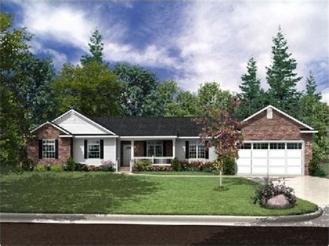 ranch style house plans with garage small brick homes ranch style homes craftsman brick ranch