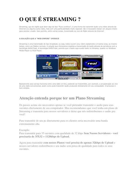 website radio tutorial o que 233 streaming tutorial web radio