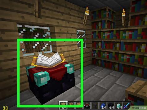 bücherregale minecraft die besten zauber in minecraft bekommen wikihow