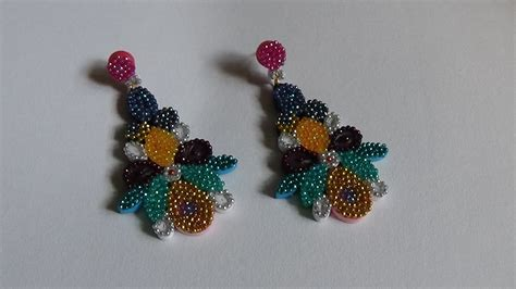 quilling earrings tutorial youtube quilling earring new design tutorial youtube