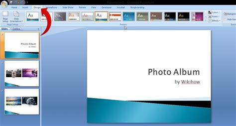 powerpoint photo album layout how to create digital photo albums with powerpoint 2007 6