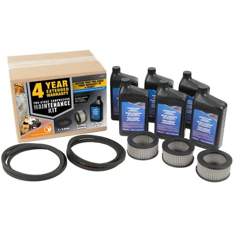 industrial air maintenance kit for 7 5 hp two stage gas powered air compressors 165 0328 the