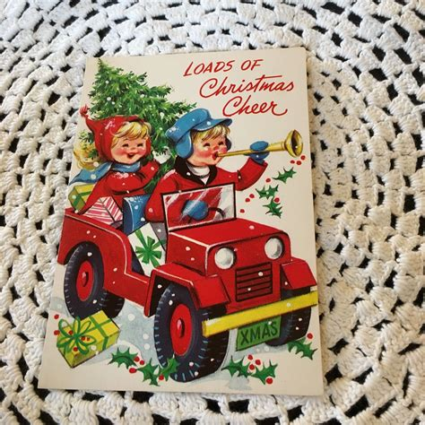 christmas jeep card postcards ewillys