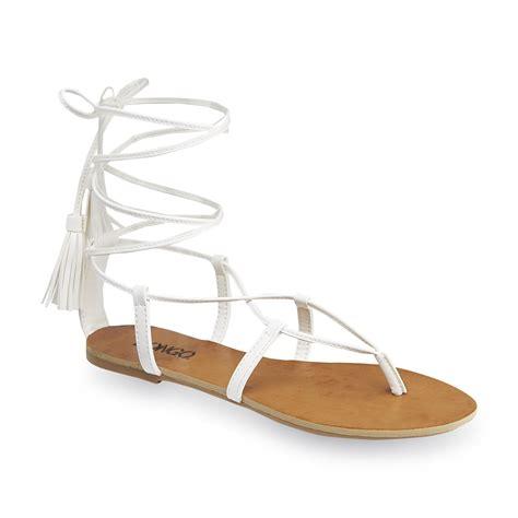 white lace up sandals bongo s lillian white lace up gladiator sandal