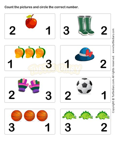 Kindergarten Math Worksheets by Learn Numbers Worksheet3 Math Worksheets Preschool
