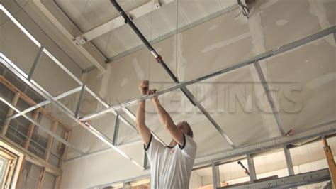 How To Install Ceiling Grid by Drywall Suspended Grid Showroom Drywall Suspended