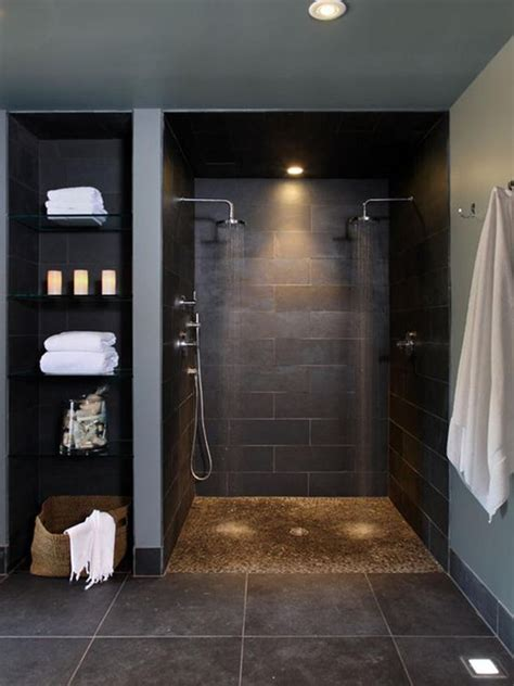 dark colored bathroom designs 32 walk in shower designs that you will love digsdigs